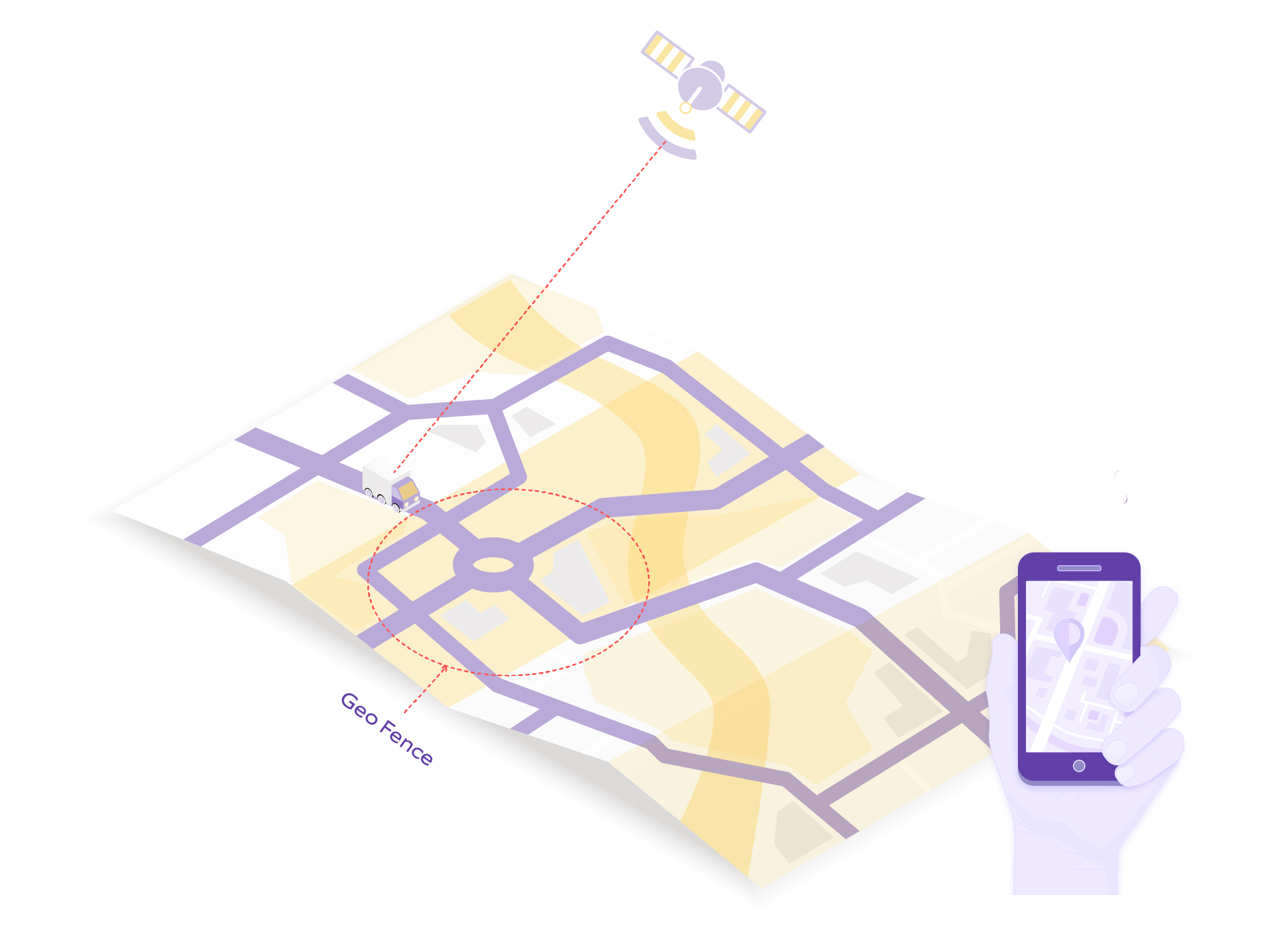 An illustration depicting what is geofencing