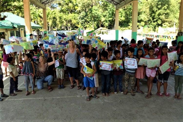 Elementary school Saud Philippines-330km race_