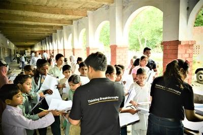 Nagarro volunteers at NTSE