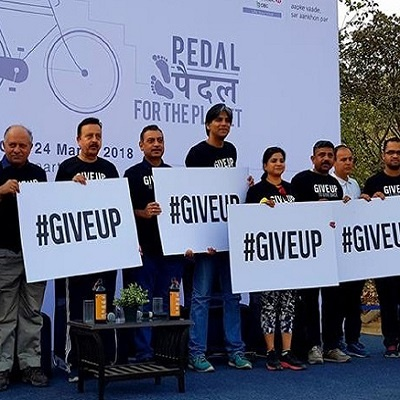 Give up to give back campaign
