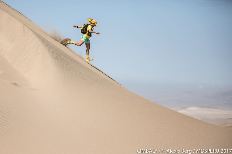 Running through the Ica desert in Peru