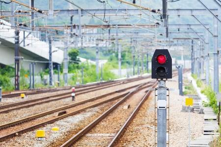 Train Railway signal light