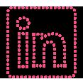 linkedin pink d