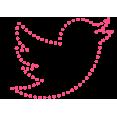 twitter pink d