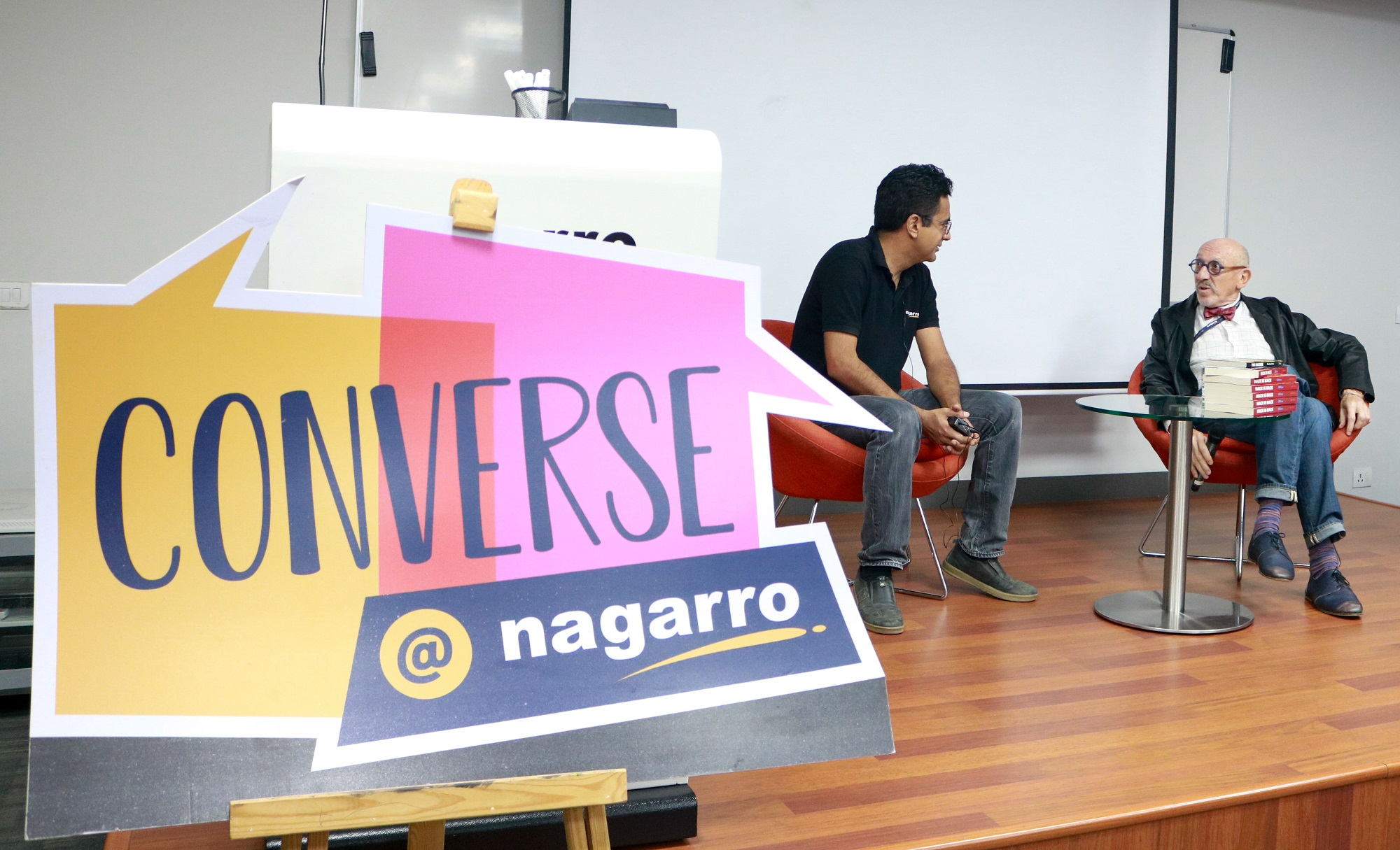 Converse@nagarro_CEO Manas Fuloria with Author and Guest Stanley Moss