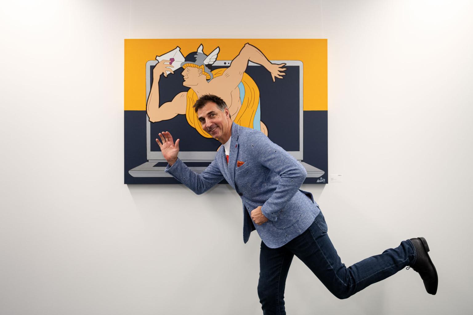 Marco mit seinem art_Nagarro Art Forum